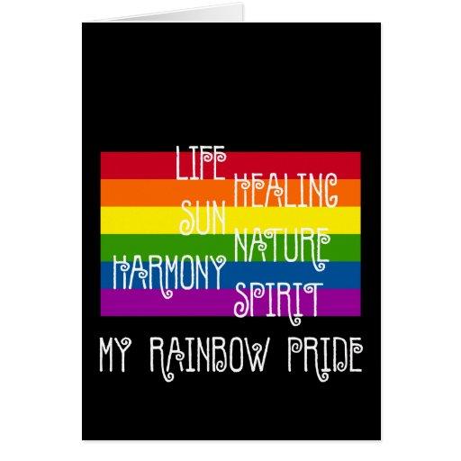 Mi tarjeta del negro del orgullo del arco iris