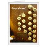 Mi tarjeta ideal de la enhorabuena del órgano