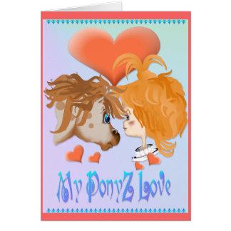 Mi tarjeta indicada con letras del amor de PonyZ