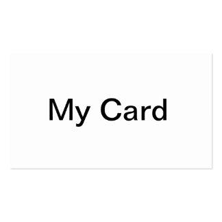 Mi tarjeta tarjeta de visita