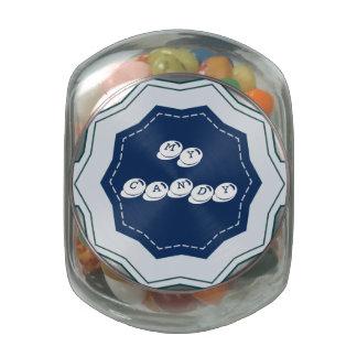 Mi tarro del caramelo del escritorio del caramelo jarras de cristal jelly bely