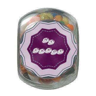 Mi tarro del caramelo del escritorio del caramelo jarrones cristal