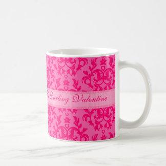 """""""Mi taza caliente del rosa de la pasión del damasc"""