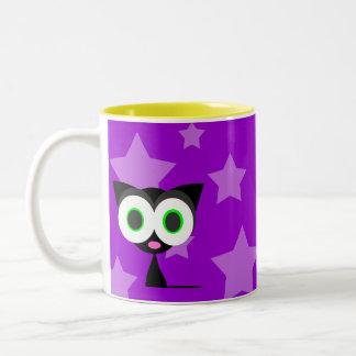 Mi taza de café afortunada del gato negro