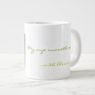 Mi taza de las bendiciones tazas jumbo