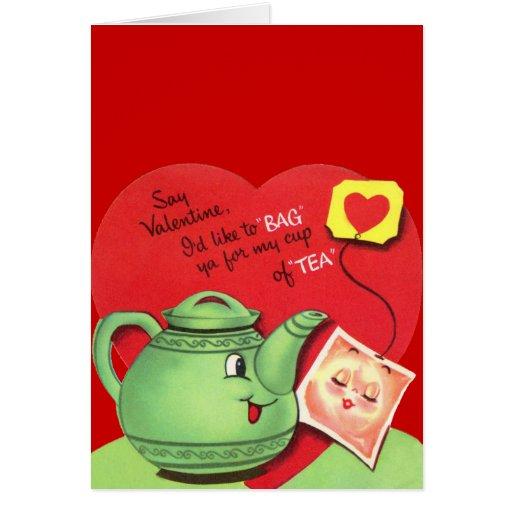 Mi taza de tarjeta del día de San Valentín del té