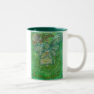 Mi taza del ángel del cáncer del verde de la vida