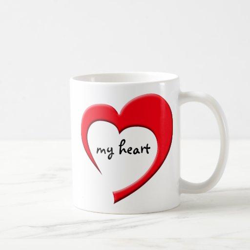 Mi taza del corazón II (roja)