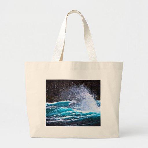 Mi taza del mar bolsa tela grande