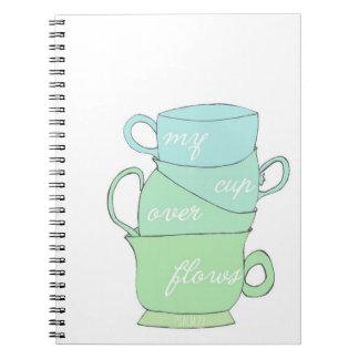 mi taza desborda ejemplo de la taza del azul del s libreta espiral