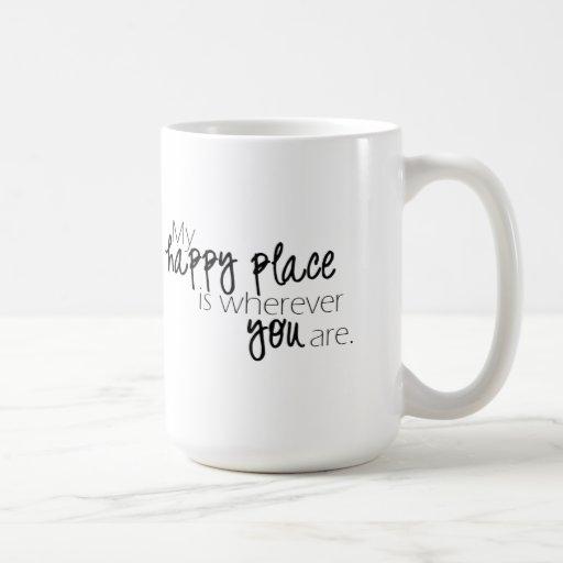 Mi taza feliz del lugar