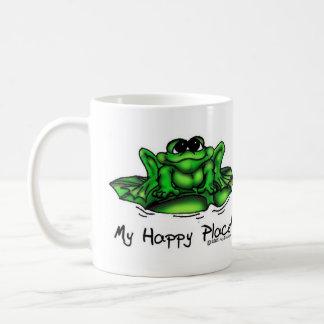 ¡Mi taza feliz del lugar de la rana!