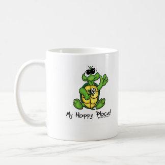 Mi taza feliz del lugar de la tortuga