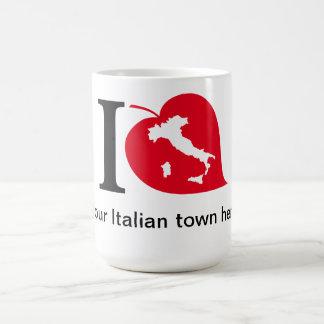 Mi taza italiana de la ciudad