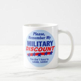Mi taza MILITAR del DESCUENTO