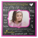 Mi teja de cerámica de la foto de la hija hermosa