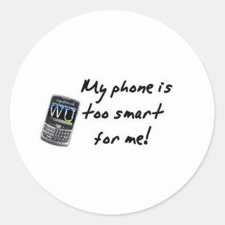 Mi teléfono pegatina redonda