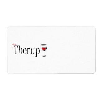 Mi terapia (del vino) etiquetas de envío