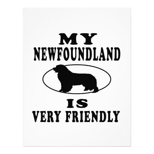 Mi Terranova es muy amistoso Membrete Personalizado