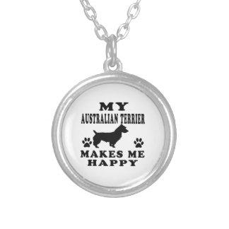 Mi Terrier australiano me hace feliz Colgante Personalizado
