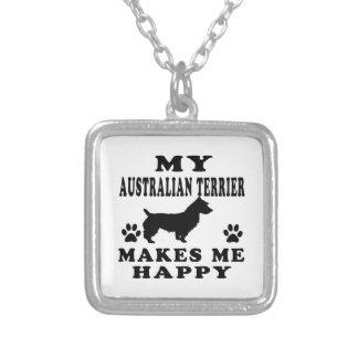 Mi Terrier australiano me hace feliz Collares Personalizados