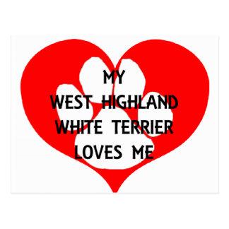 mi terrier blanco de montaña del oeste ama me.png postal