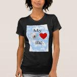 Mi terrier del oeste de la montaña me ama camisetas