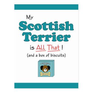 ¡Mi Terrier escocés es todo el eso! Postal