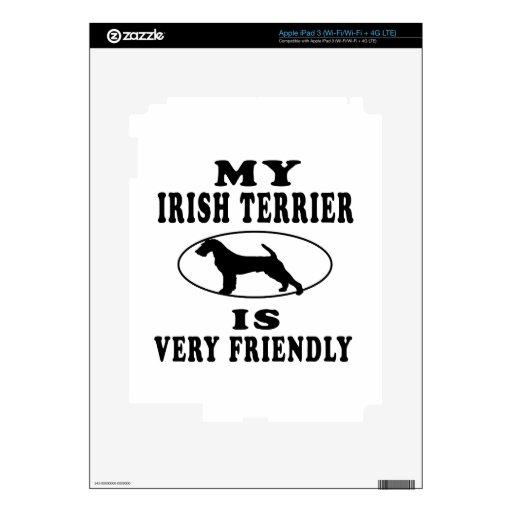 Mi Terrier irlandés es muy amistoso iPad 3 Pegatina Skin