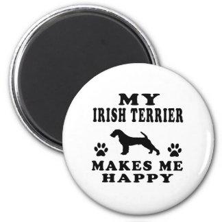Mi Terrier irlandés me hace feliz Imán Redondo 5 Cm