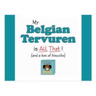 ¡Mi Tervuren belga es todo el eso Tarjetas Postales