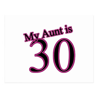 Mi tía es 30 tarjeta postal