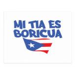 Mi Tia Es Boricua Postcard
