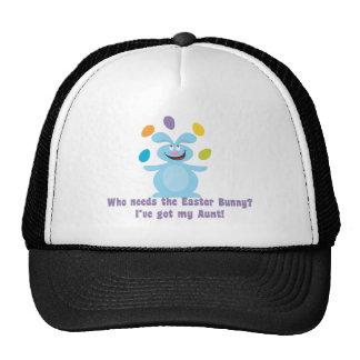 Mi tía es mi conejito de pascua gorras