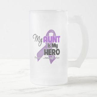 Mi tía es mi héroe - cinta púrpura tazas