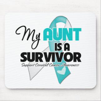 Mi tía es un superviviente - cáncer de cuello del  mouse pad