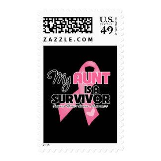 Mi tía es un superviviente - cáncer de pecho sellos