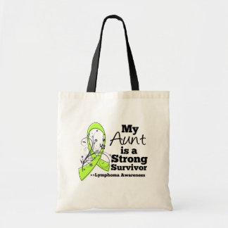 Mi tía es un superviviente fuerte del linfoma bolsa tela barata