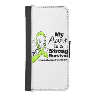 Mi tía es un superviviente fuerte del linfoma funda billetera para teléfono