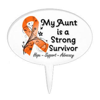 Mi tía es una cinta fuerte del naranja del supervi decoración de tarta