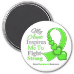 Mi tía Inspires Me para luchar linfoma fuerte Imán De Frigorífico