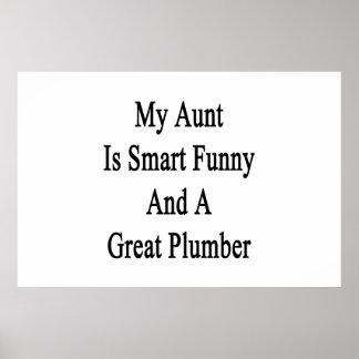 Mi tía Is Smart Funny y gran fontanero Póster