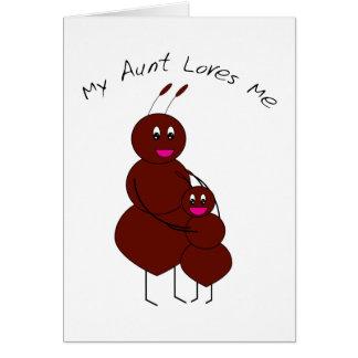 Mi tía Love Me Card Tarjeta