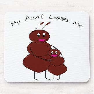 Mi tía Loves Me Ant Mousepad Tapetes De Ratones