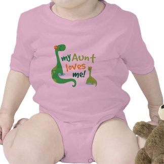 Mi tía Loves Me Dinosaur Camisetas