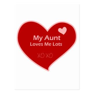 Mi tía Loves Me Lots Tarjeta Postal