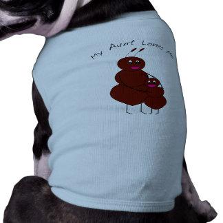 Mi tía Loves Me Pet Clothing Playera Sin Mangas Para Perro