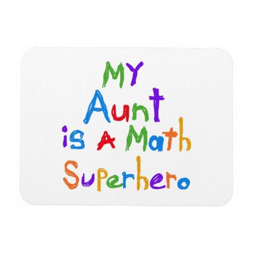 Mi tía Math Superhero T-shirts y regalos Iman
