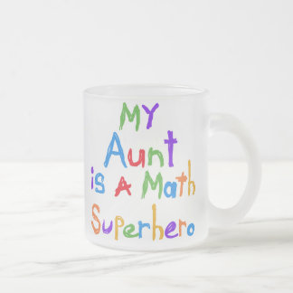 Mi tía Math Superhero T-shirts y regalos Tazas