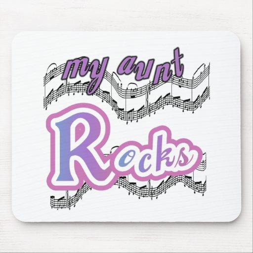 Mi tía Rocks Tapete De Ratón